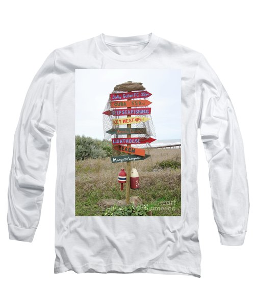 Daytona Crossroads Long Sleeve T-Shirt by Dodie Ulery
