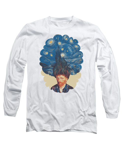 De Hairednacht Long Sleeve T-Shirt by Mustafa Akgul