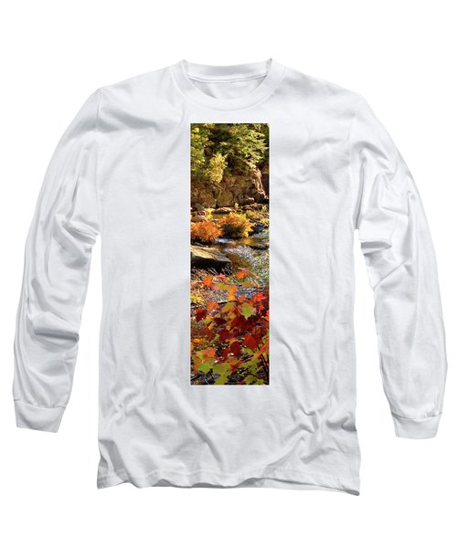 4 Of 6 Dead River Falls  Marquette Michigan Section Long Sleeve T-Shirt