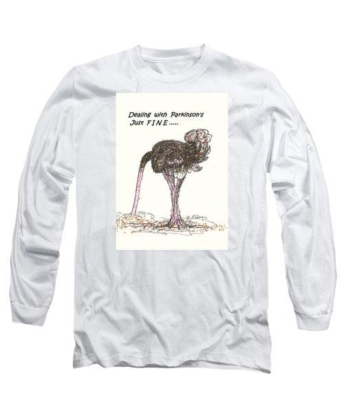 Long Sleeve T-Shirt featuring the drawing Dealing Just Fine by Denise Fulmer