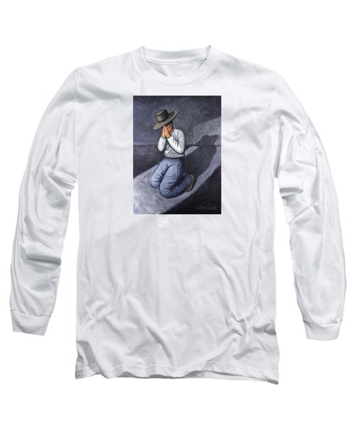 Long Sleeve T-Shirt featuring the painting Dear God 3 by Lance Headlee