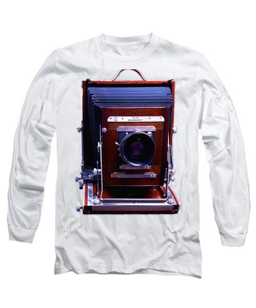 Deardorff 8x10 View Camera Long Sleeve T-Shirt by Joseph Mosley
