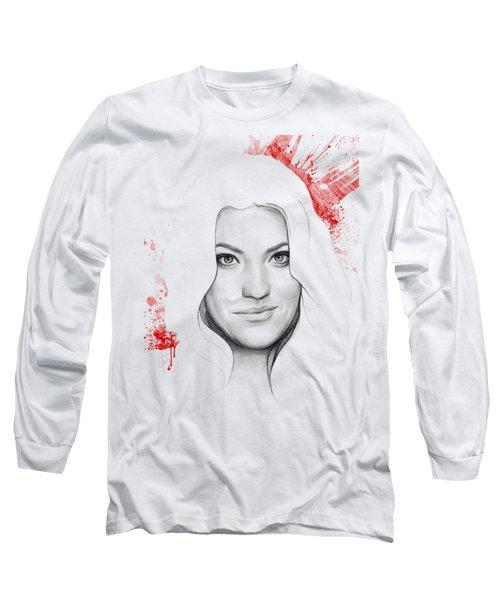 Debra Morgan Portrait - Dexter Long Sleeve T-Shirt