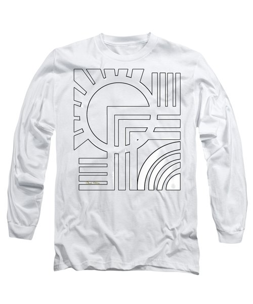 Deco Design White Long Sleeve T-Shirt