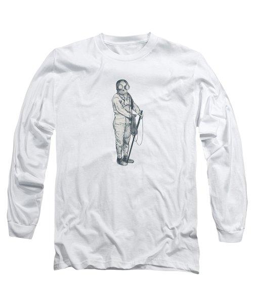 Deep Sea Diver - Nautical Design Long Sleeve T-Shirt