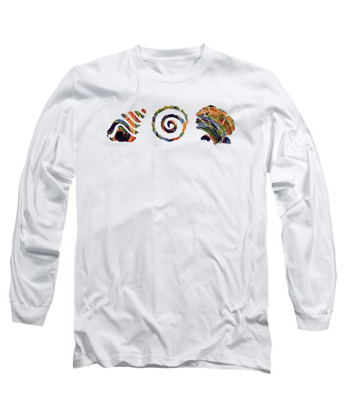 Deep Sea Shell Trio Long Sleeve T-Shirt by Deborah Smith