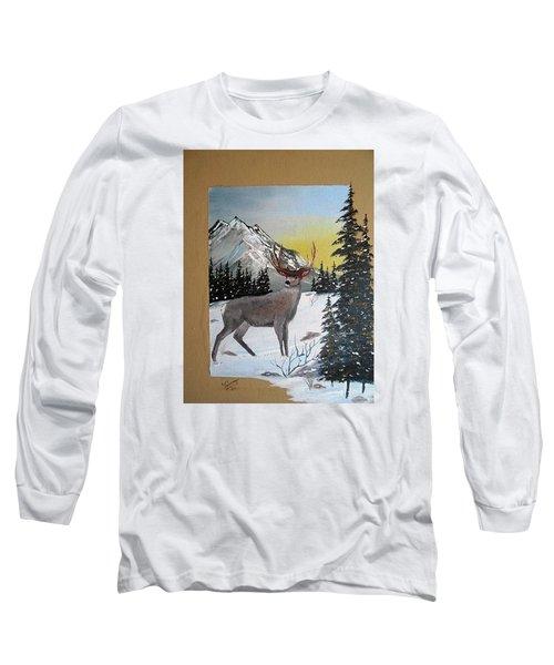 Deer Hunter's Dream Long Sleeve T-Shirt by Al  Johannessen