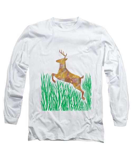 Deer In Grass Long Sleeve T-Shirt by Aimee L Maher Photography and Art Visit ALMGallerydotcom