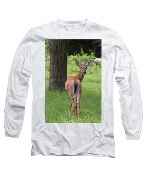 Deer Looking Back Long Sleeve T-Shirt