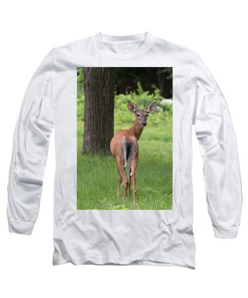 Deer Looking Back Long Sleeve T-Shirt