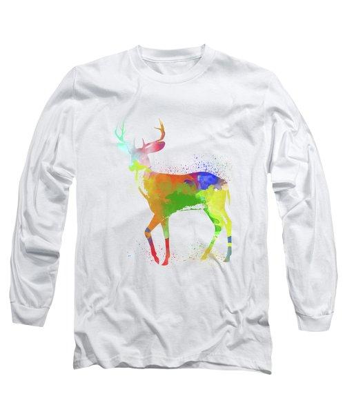 Deer Watercolor 1 Long Sleeve T-Shirt