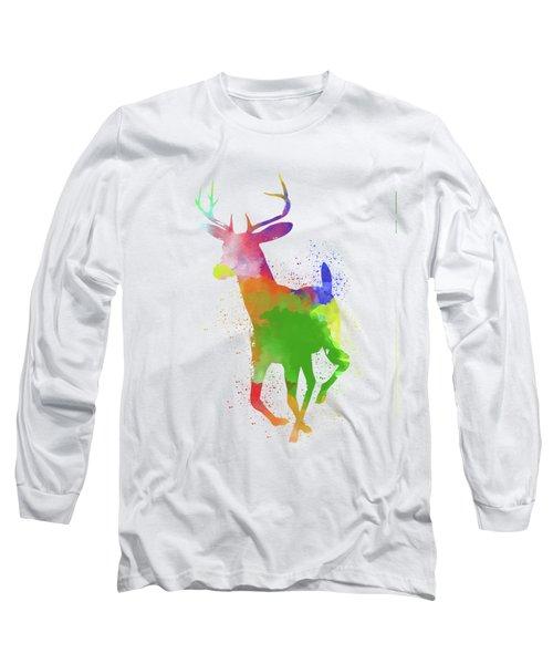 Deer Watercolor 2 Long Sleeve T-Shirt