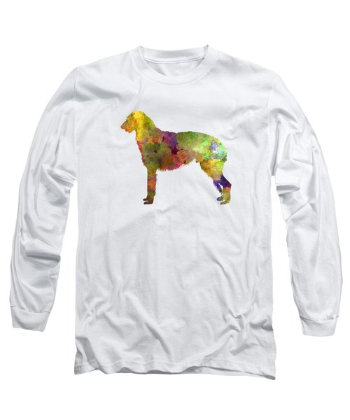 Deerhound 01 In Watercolor Long Sleeve T-Shirt