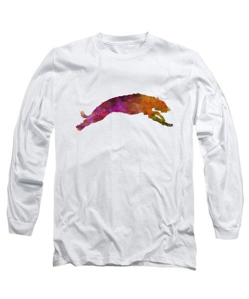 Deerhound 02 In Watercolor Long Sleeve T-Shirt