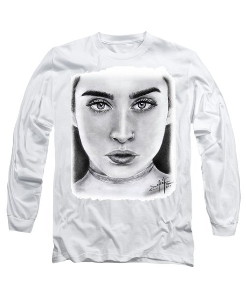 Lauren Jauregui Drawing By Sofia Furniel  Long Sleeve T-Shirt