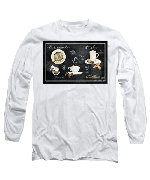 Deja Brew Chalkboard Coffee Cappuccino Mocha Caffe Latte Long Sleeve T-Shirt