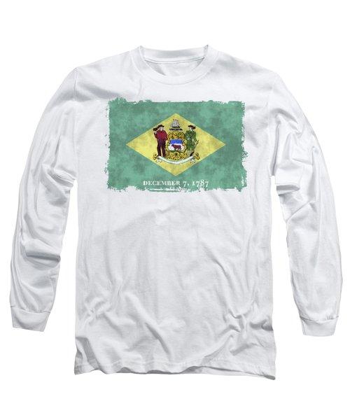 Delaware Flag Long Sleeve T-Shirt