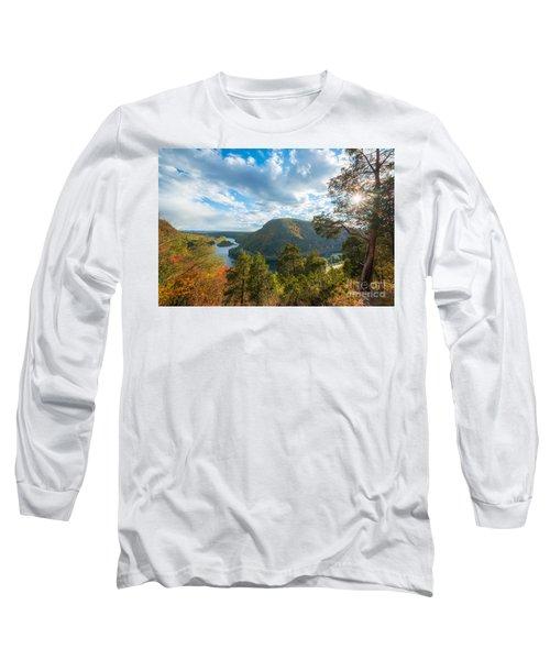 Delaware Water Gap In Autumn Long Sleeve T-Shirt