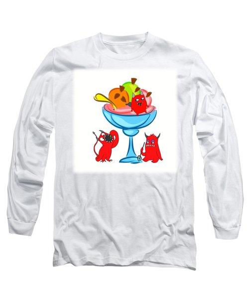 Deliciously Cool Ice Cream Sundae Long Sleeve T-Shirt