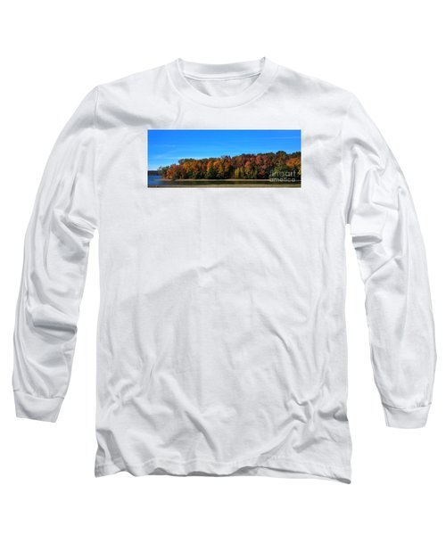 Long Sleeve T-Shirt featuring the photograph Delta Lake State Park Foliage by Diane E Berry