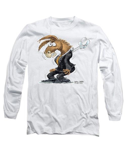 Democrat Deflates Long Sleeve T-Shirt