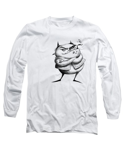 Demon Drawing Long Sleeve T-Shirt by Andy Catling