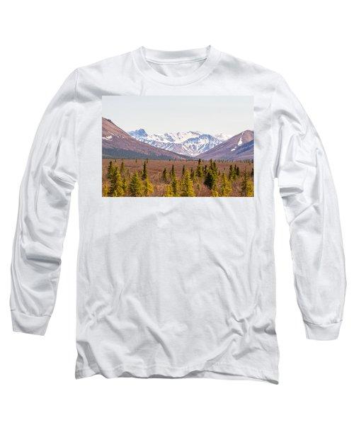 Denali Wilderness Beauty Long Sleeve T-Shirt by Allan Levin