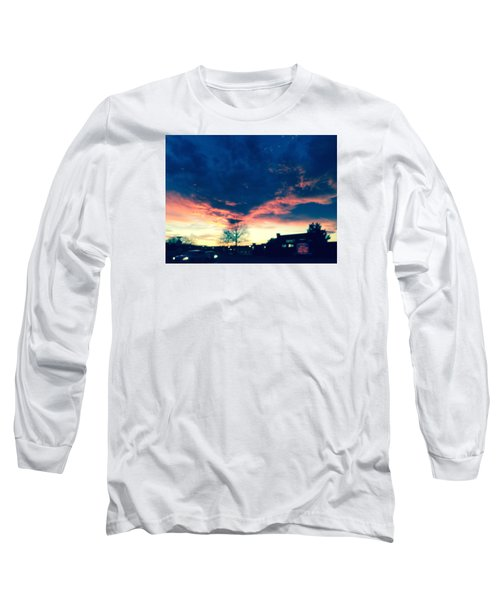 Dense Sunset Long Sleeve T-Shirt by Angela Annas