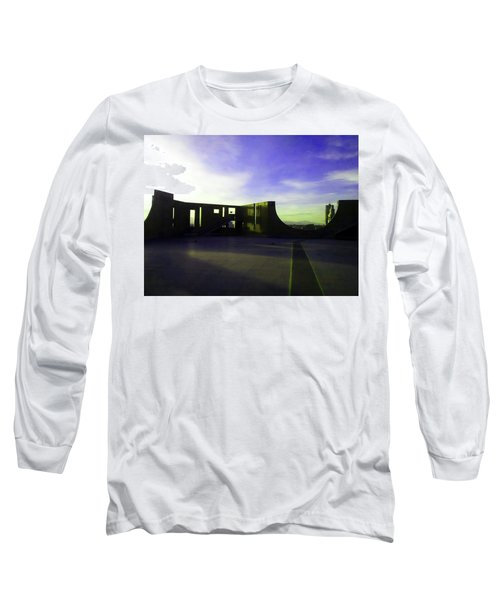 Long Sleeve T-Shirt featuring the photograph Denver Art Museum Deck 1 by Marilyn Hunt