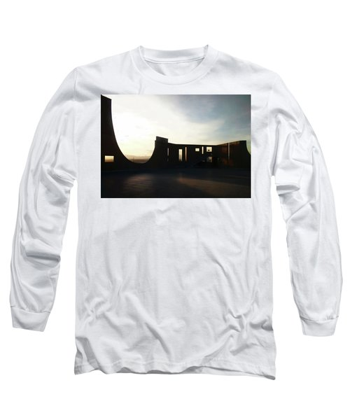 Long Sleeve T-Shirt featuring the photograph Denver Art Museum Ponti Deck by Marilyn Hunt