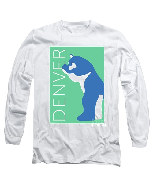 Denver Blue Bear/aqua Long Sleeve T-Shirt