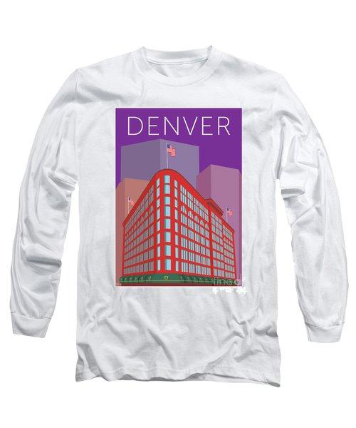 Denver Brown Palace/purple Long Sleeve T-Shirt