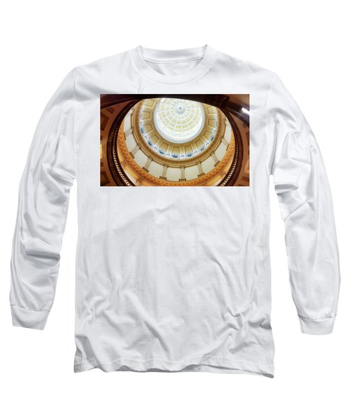 Long Sleeve T-Shirt featuring the photograph Denver Capitol Dome 1 by Marilyn Hunt