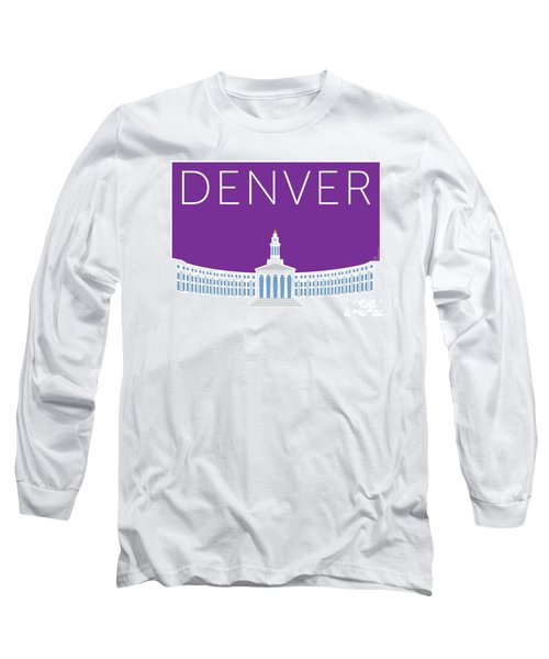Denver City And County Bldg/purple Long Sleeve T-Shirt