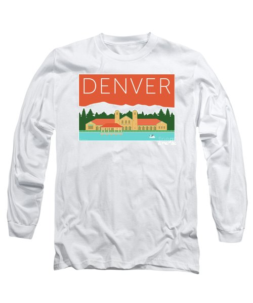 Denver City Park/coral Long Sleeve T-Shirt