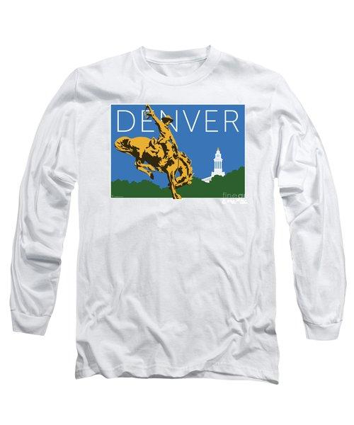 Denver Cowboy/dark Blue Long Sleeve T-Shirt