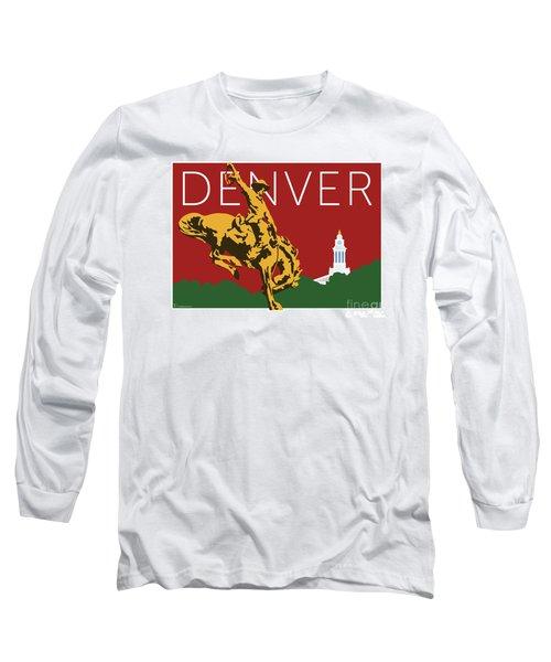 Denver Cowboy/maroon Long Sleeve T-Shirt
