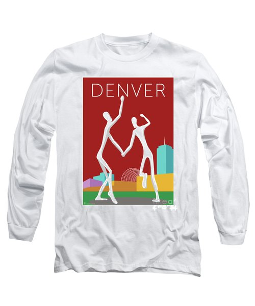 Denver Dancers/maroon Long Sleeve T-Shirt