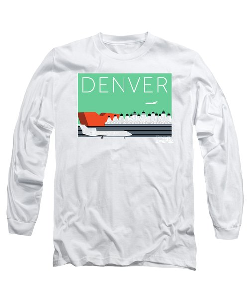 Denver Dia/aqua Long Sleeve T-Shirt