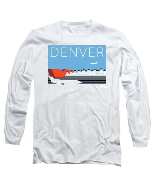Denver Dia/blue Long Sleeve T-Shirt