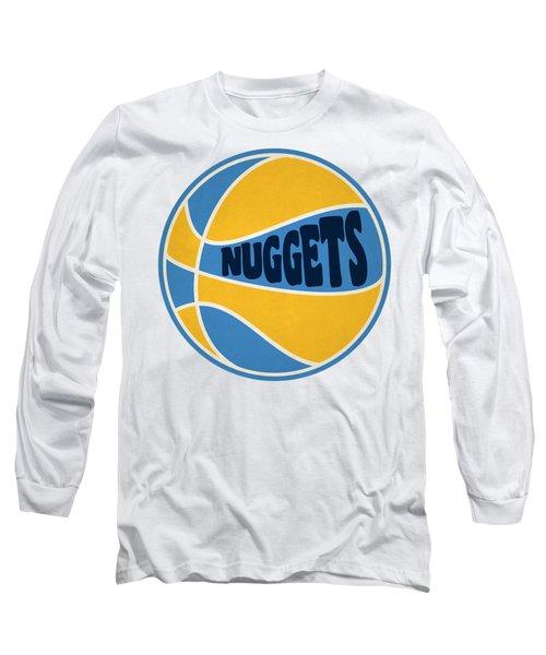 Long Sleeve T-Shirt featuring the photograph Denver Nuggets Retro Shirt by Joe Hamilton