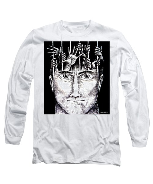 Deprivation Of Freedom Of Expression Long Sleeve T-Shirt by Paulo Zerbato