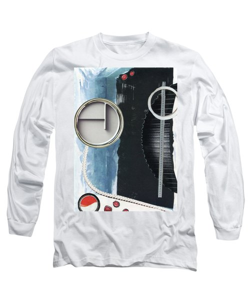 Long Sleeve T-Shirt featuring the painting Depth Onto Space by Michal Mitak Mahgerefteh