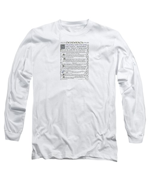 Desiderata-blue Long Sleeve T-Shirt
