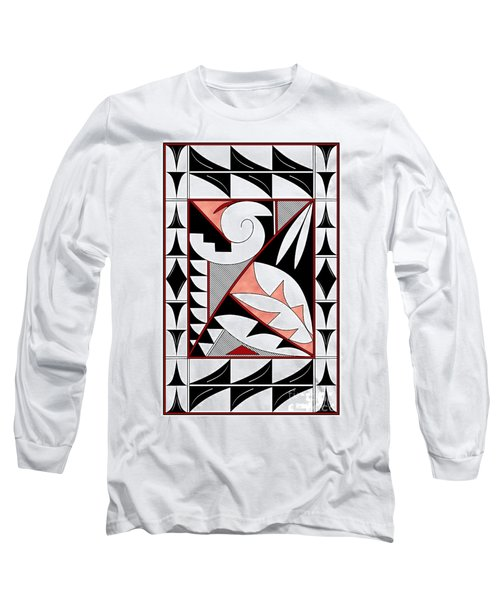 Southwest Collection - Design Four In Red Long Sleeve T-Shirt