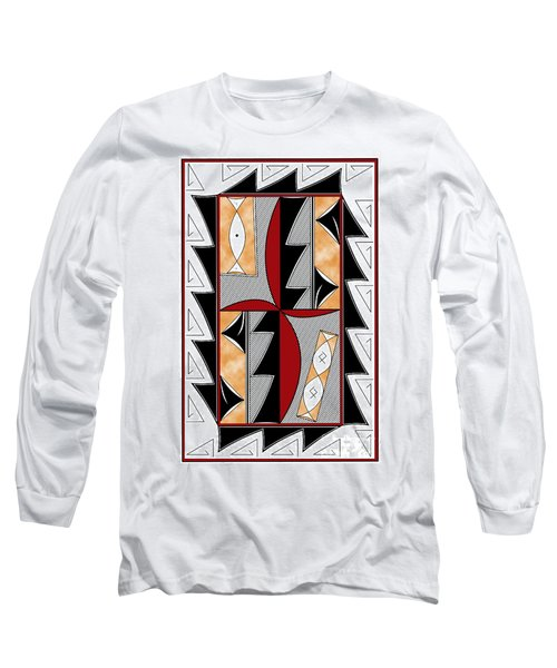 Southwest Collection - Design One In Red Long Sleeve T-Shirt