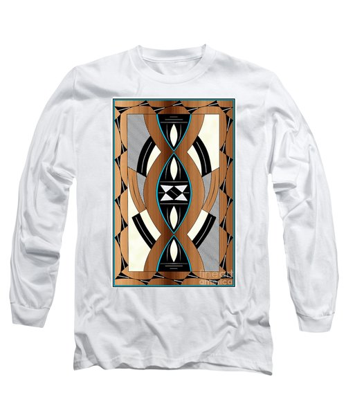 Southwest Collection - Design Two In Blue Long Sleeve T-Shirt