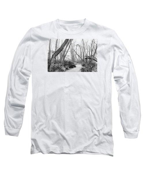 Destruction In Black And White Long Sleeve T-Shirt by Joni Eskridge