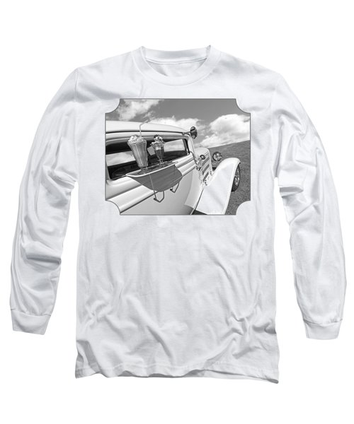 Deuce Coupe At The Drive-in Black And White Long Sleeve T-Shirt