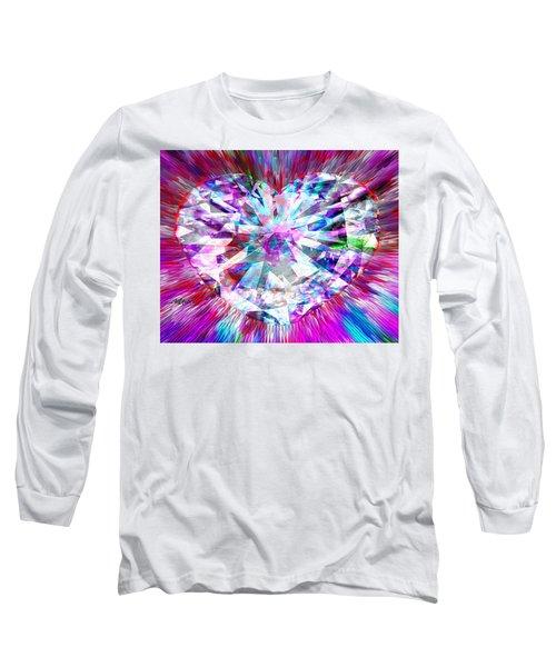 Diamond Heart Long Sleeve T-Shirt